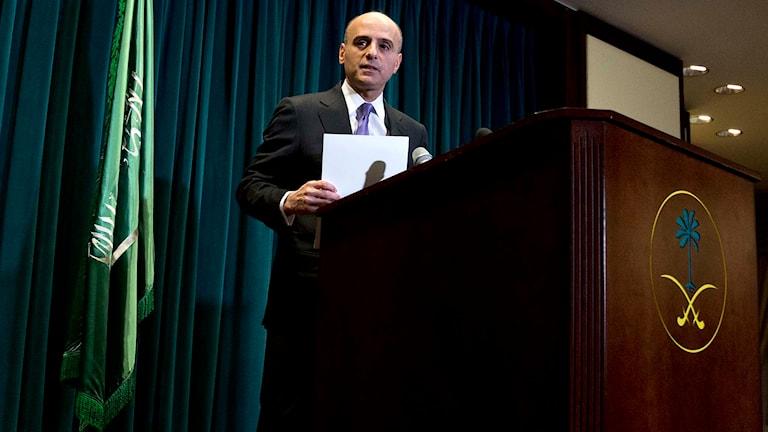 Saudiarbiens USA-ambassadör Adel al-Jubeir. Foto: Carolyn Kaster/TT.