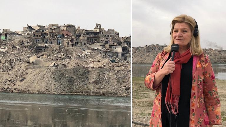 Cecilia Uddén tillbaka i det sönderbombade Mosul