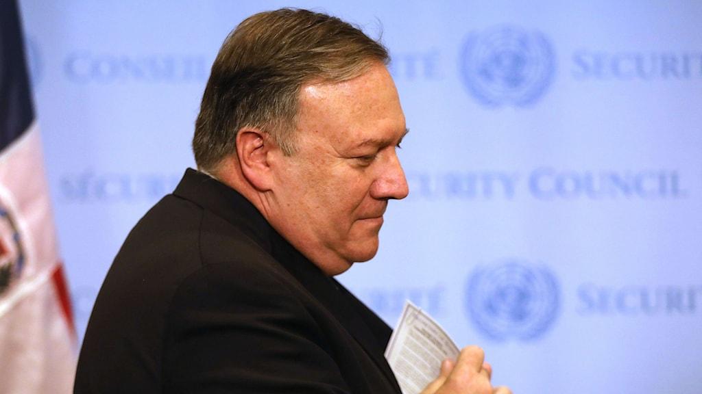 USA:s utrikesminister Mike Pompeo