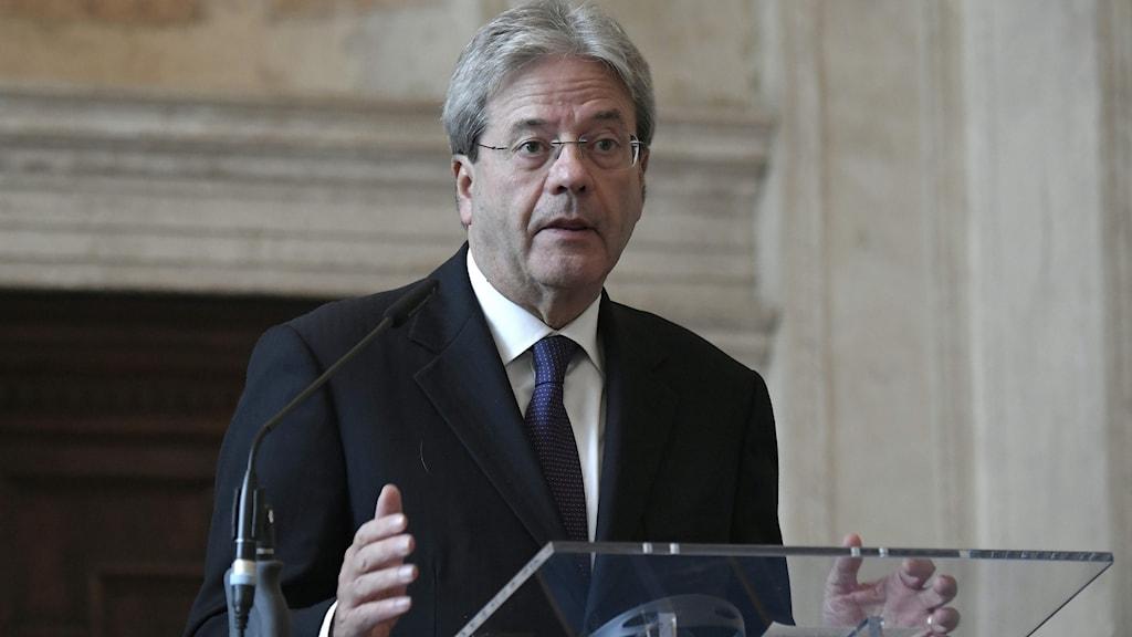 Paolo Gentiloni, Italiens utrikesminister.