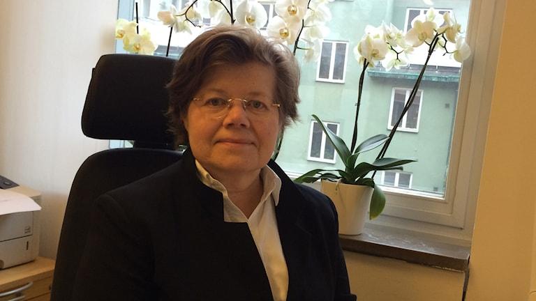 Riksrevisor Margareta Åberg. Foto: Maria Repitsch, Sveriges Radio