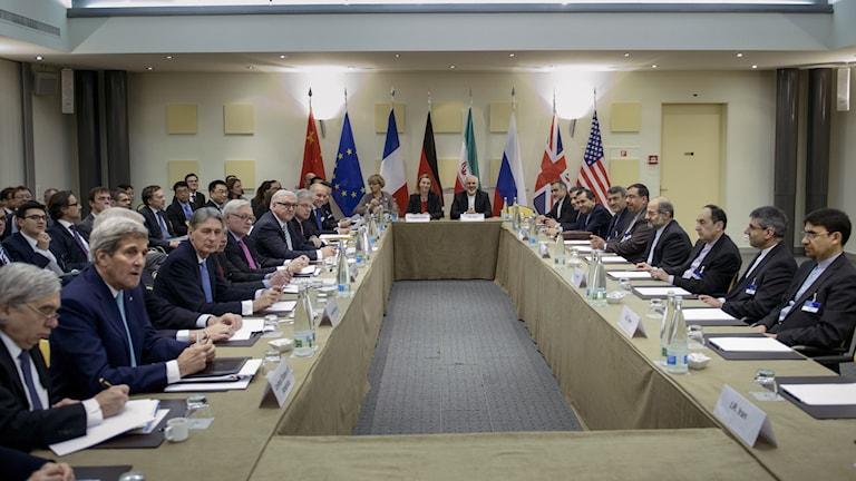 Samtalen om Irans kärnenergiprogram fortsätter under onsdagen. Foto: Brendan Smialowski/AP
