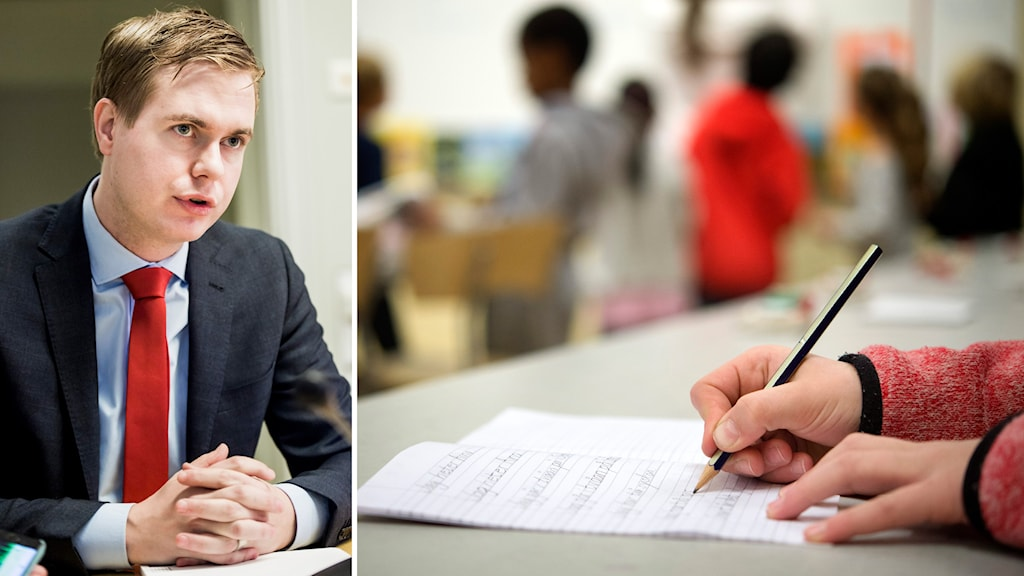 Utbildningsminister Gustav Fridolin (MP). Foto: TT