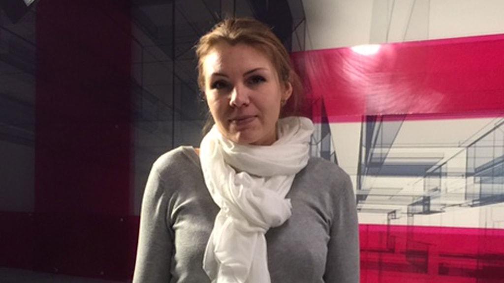 Ljudmilja Sjuavjljova, chefredaktör på Blacksea TV. Foto: Maria Persson-Löfgren/Sveriges Radio.