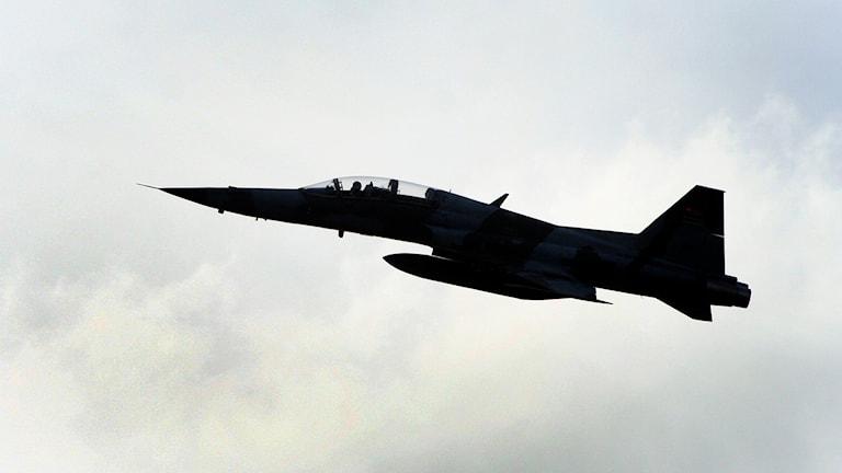 Kenyanska militärens stridsflyg, F5 jet fighter. Foto: TT
