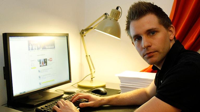 Internetaktivisten Maximilian Schrems. Foto: Ronald Zak/TT