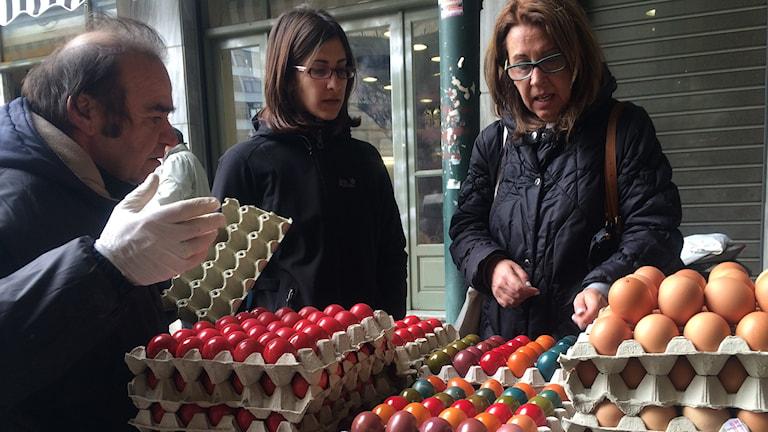 Zina Karbasaki är nöjd med den nya regeringen i Grekland. Foto: Johanna Melén, Sveriges Radio.
