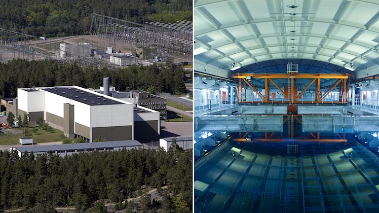 Bilder från kärnavfallsanläggningen Clab