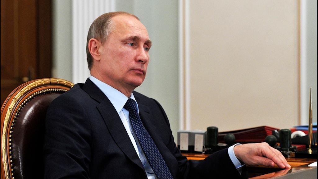 Rysslands president Vladimir Putin. Foto: Mikhail Klimentyev/AP.