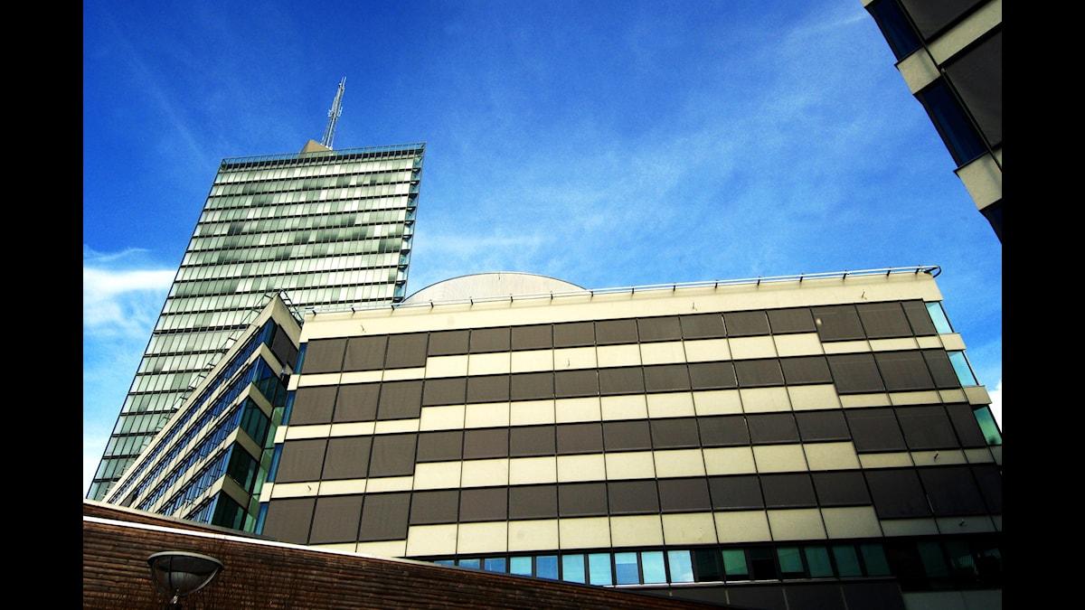 Exteriör av kontorskomplexet Kista Science City i nordvästra Stockholm