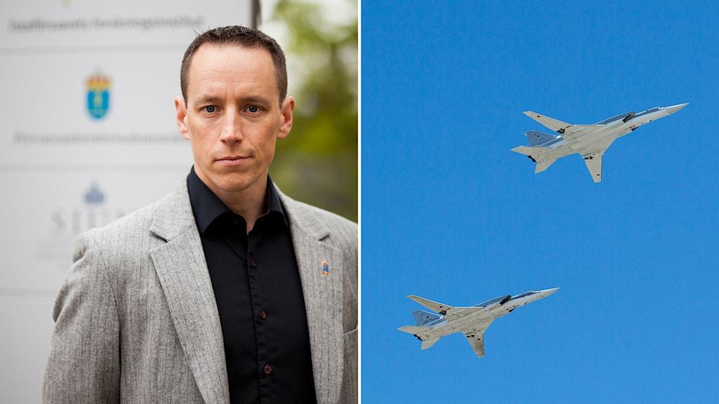 Fredrik Westerlund , FOI, ryska flygplan. Foto: FOI/TT.