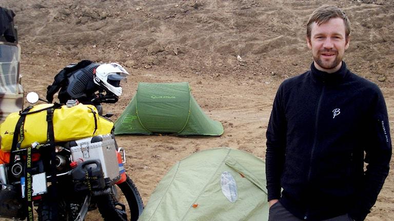 Svensken Johan Gustafsson som kidnappades under en resa i Mali hösten 2011. Foto: Privat.
