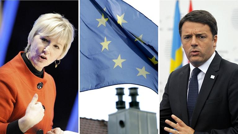 Margot Wallström Matteo Rezi EU flyktingkatastrof medelhavet