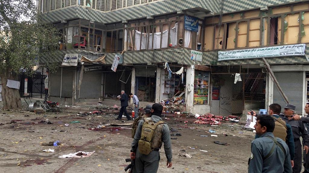 IS har tagit på sig självmordsattacken den 18 april som krävde fler än 30 människors liv. Foto: AP.
