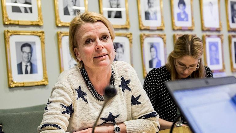 Äldreminister Åsa Regnér. Foto: Nora Lorek/TT