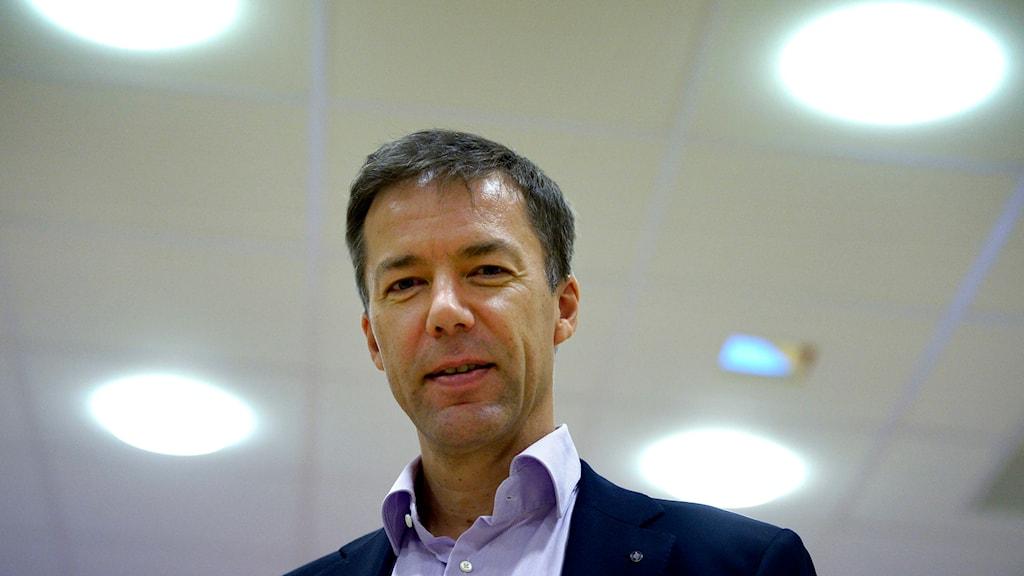 Fredrik Wallin, talesperson på Försvarets radioanstalt (FRA) Foto: Janerik Henriksson / TT.