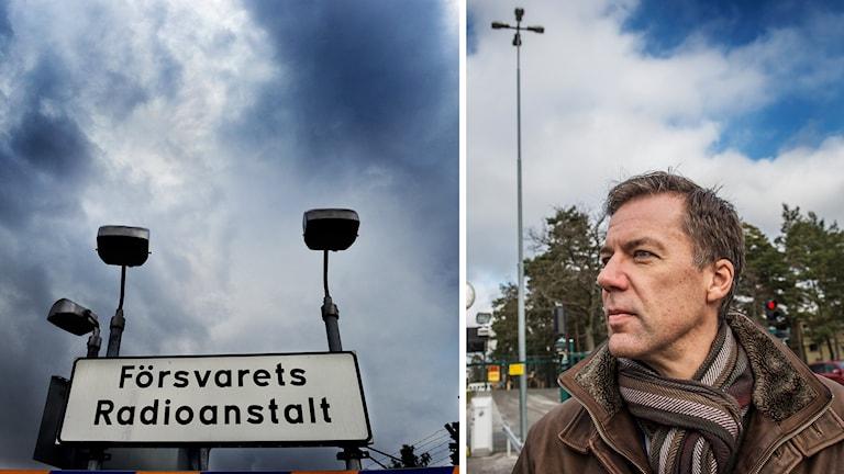Fredrik Wallin, talesperson på FRA. Foto: Tomas Oneborg/TT och Yvonne Åsell / TT
