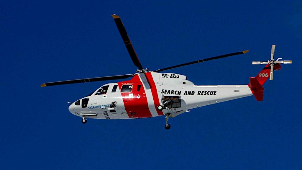 En av Sjöfartsverkets helikoptrar. Foto: Stian Lysberg Solum/TT.