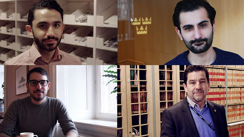 Daniel Riazat, Hanif Bali, Robert Hannah och Marco Venegas. Foto: Marcus Eriksson/Sveriges Radio.
