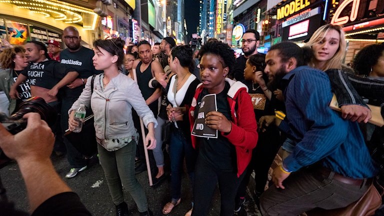 Protester i New York