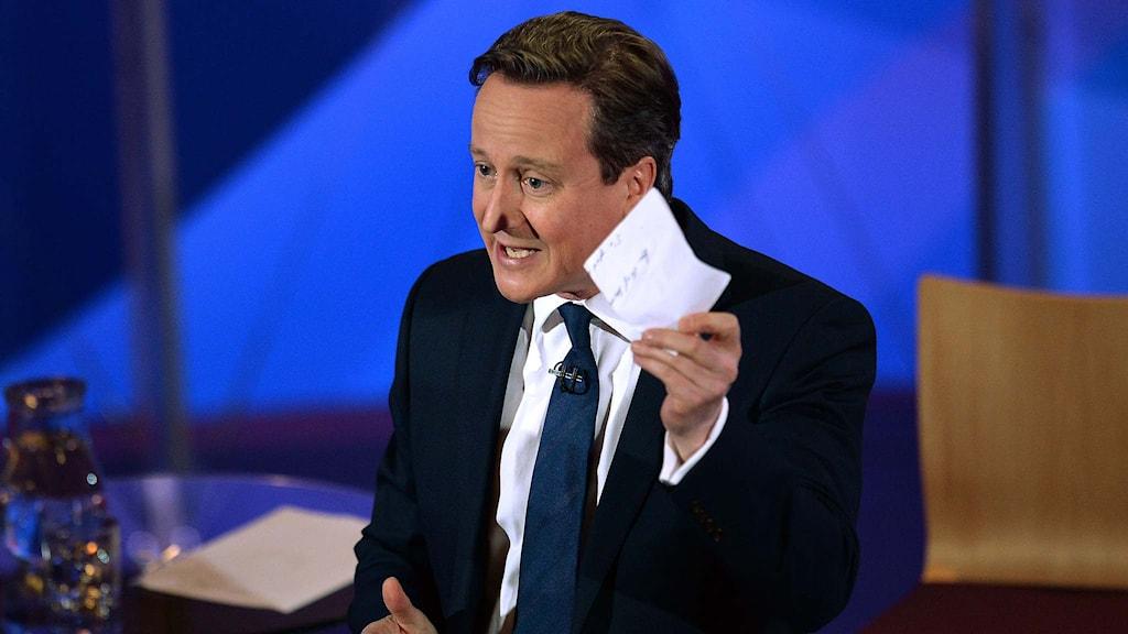 Storbritanniens premiärminister David Cameron. Foto: Stefan Rousseau/TT.