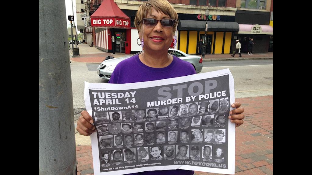 Sylvia Harris i Baltimore. Foto: Inger Arenander/Sveriges Radio.