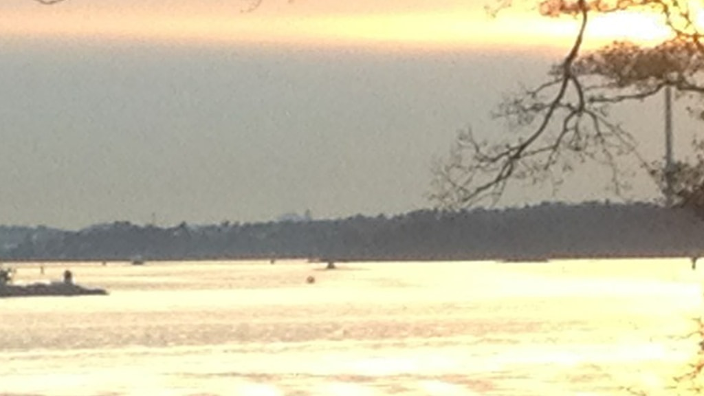 Foto på den misstänka ubåtsobservationen utanför Lidingö den 31 oktober i höstas. Foto: Privat