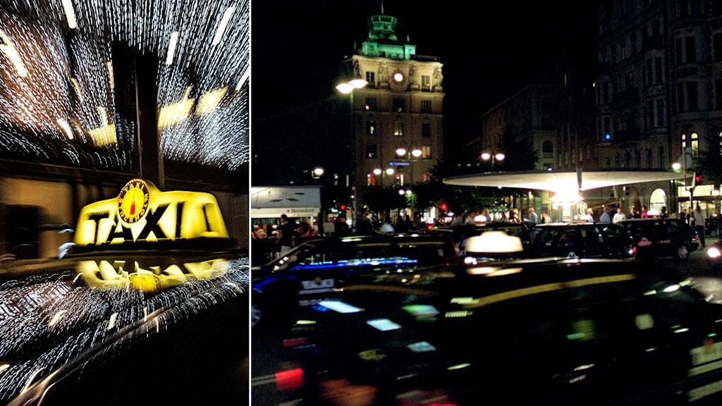 Ekot granskar villkoren i taxibranschen. Foto: Tomas Oneborg/SvD/TT, Krister Larsson/TT