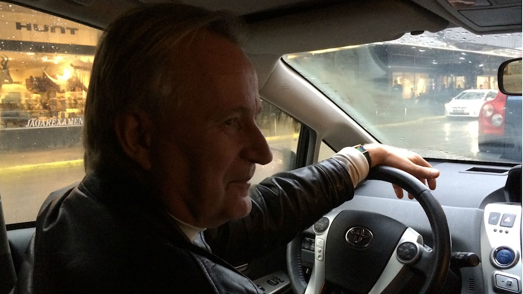 Sten-Åke Rydén, som kört taxi i 38 år. Foto: Maria Ridderstedt/Sveriges Radio