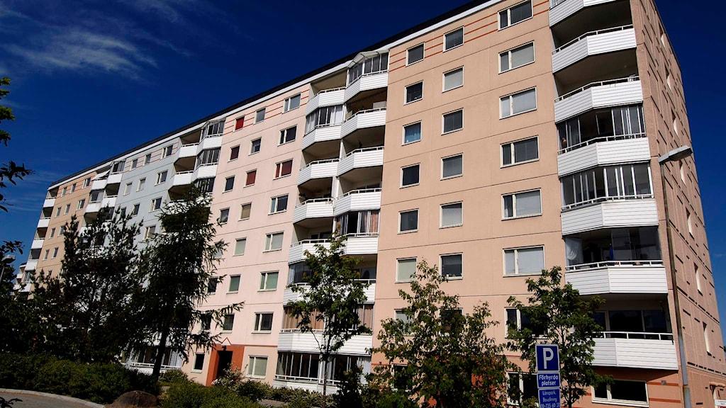 Flerbostadshus byggt i början av 70-talet. Foto: Hasse Holmberg/TT.
