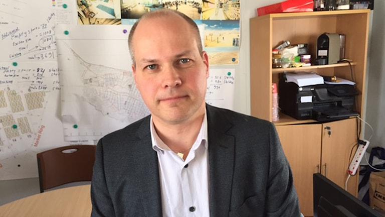Justitie- och migrationsminister Morgan Johansson. Foto Cecilia Uddén/Sveriges Radio.