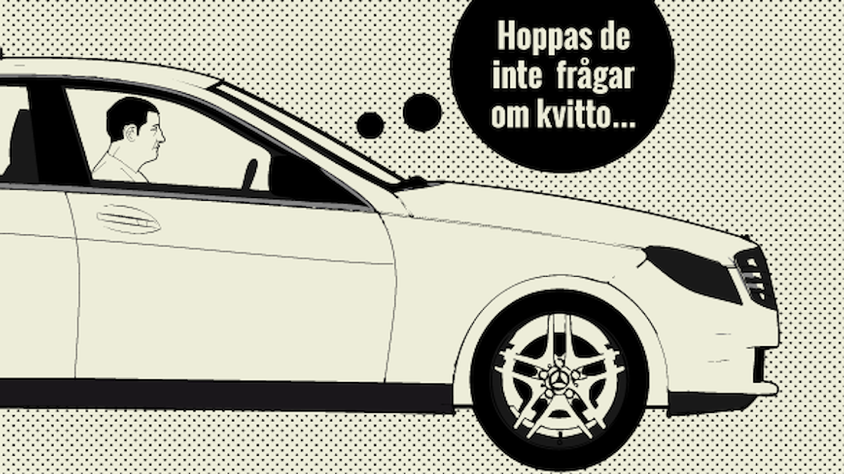 Taxifusket. Illustration: Sveriges Radio/Liv Widell