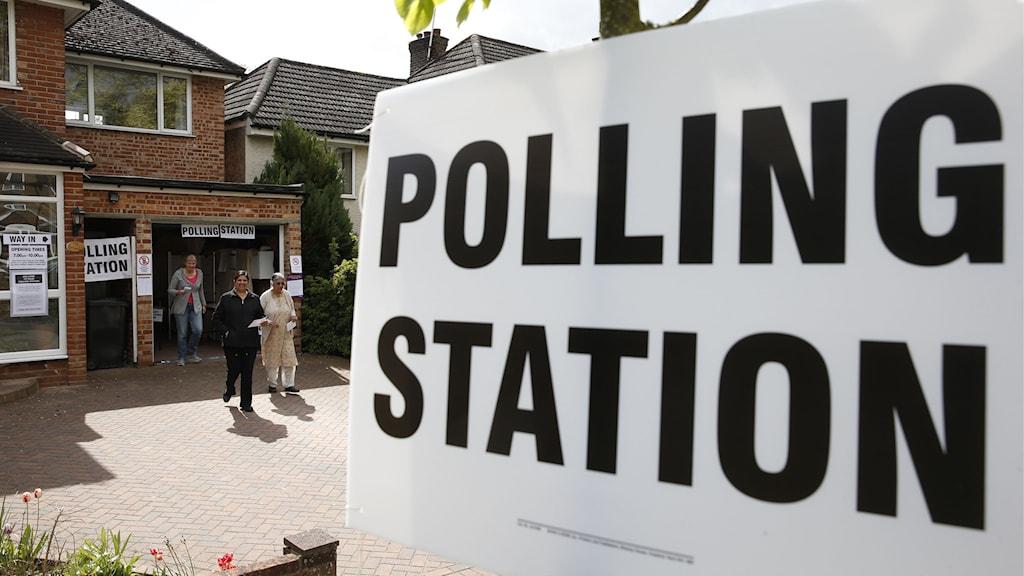 storbritannien valdeltagande. Foto: Adrian Dennis/AFP.