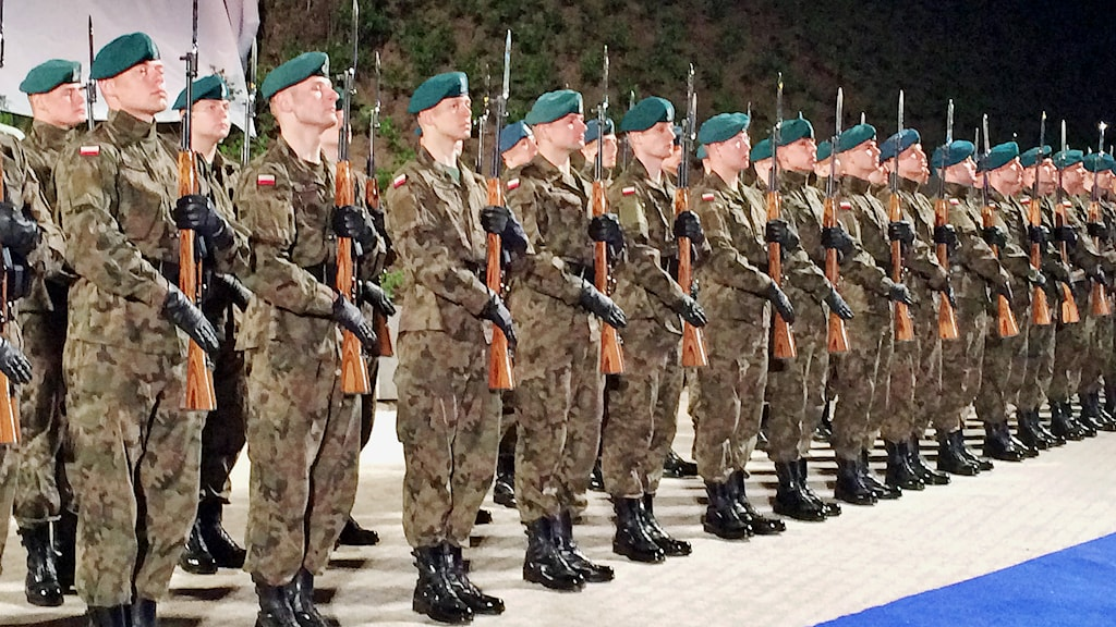Ceremoni vid Westerplatte, Polen. Foto: Margareta Svensson/Sveriges Radio
