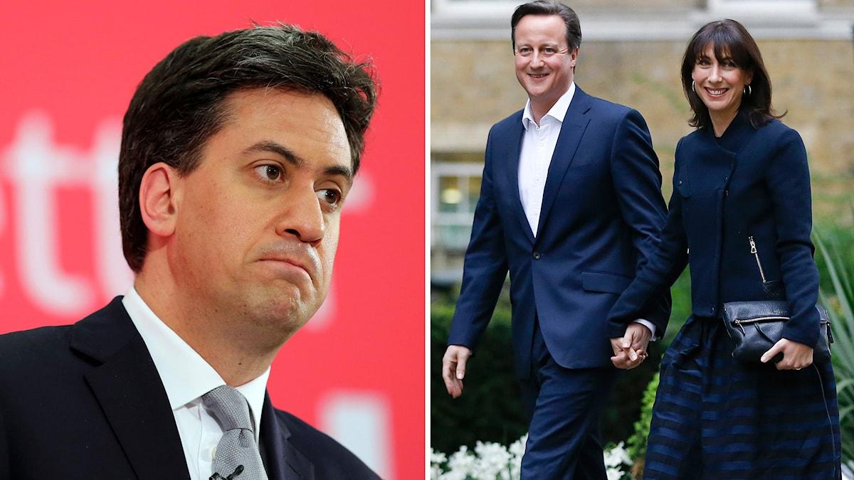 Ed  Miliband och David Cameron. Foto: Chris Radburn/TT och Kirsty Wigglesworth/TT