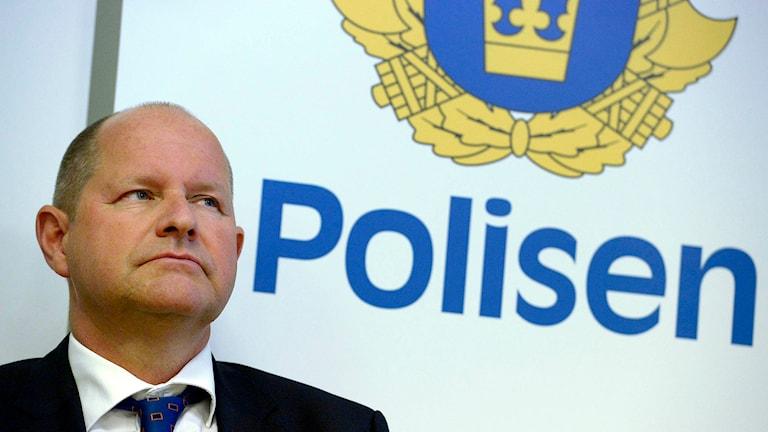 National Police Chief, Dan Eliasson. Photo: Janerik Henriksson / TT.