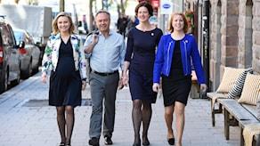 Лидеры оппозиционного буржуазного Альянса. Фото: TT