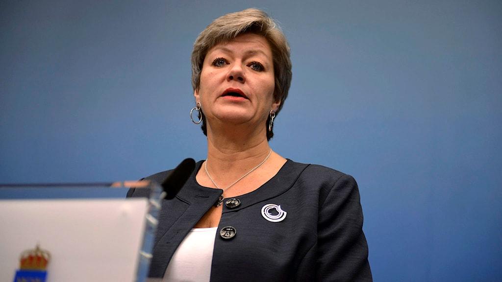 Arbetsmarknadsminister Ylva Johansson (S). Foto: Vilhelm Stokstad / TT.