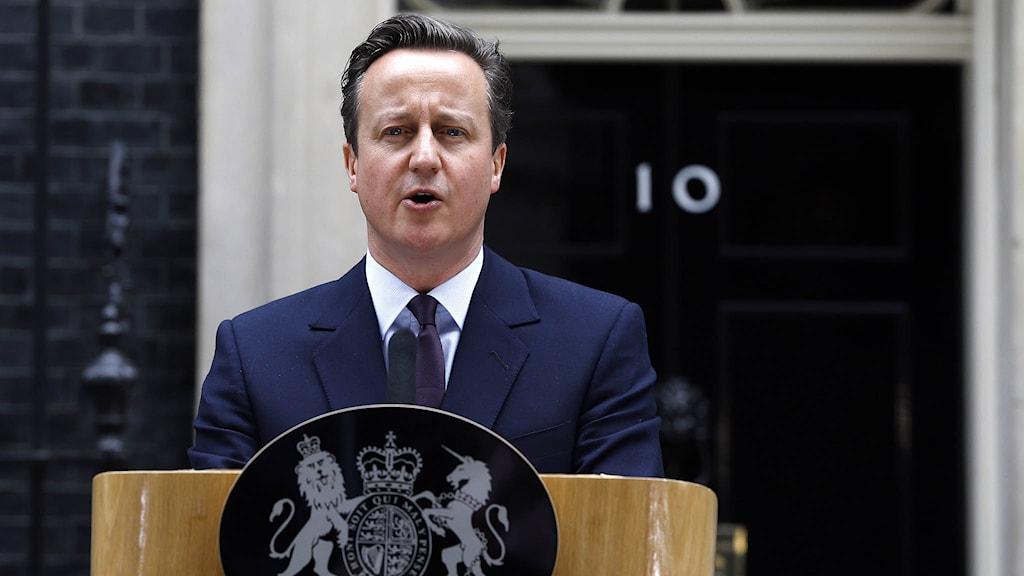 Storbritanniens premiärminister David Cameron. Foto: Kirsty Wigglesworth/TT.