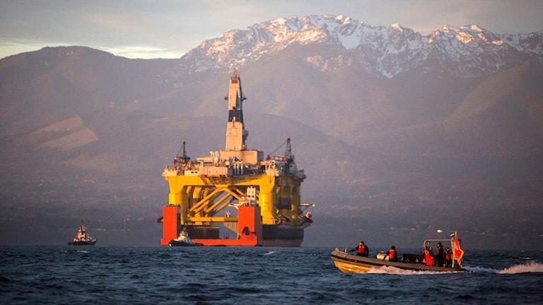 En av Shells oljeplattformar. Foto: Daniella Beccaria/TT