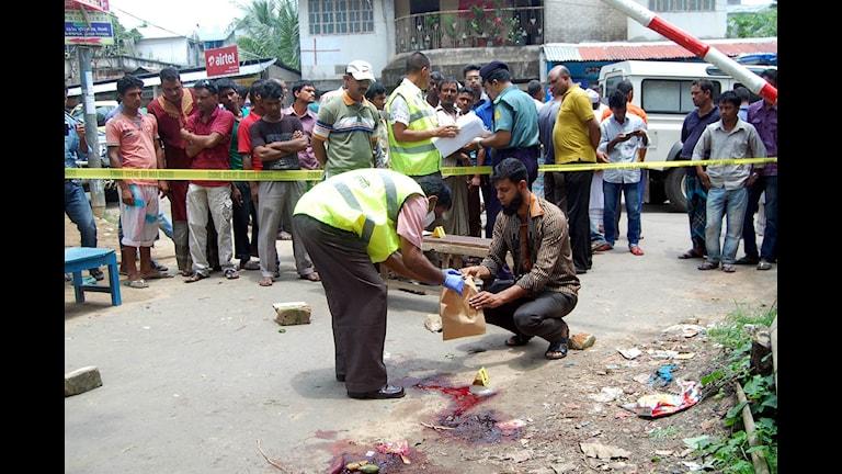 Polis mordplats bloggare bangladesh foto:AFP
