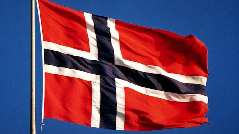 Norges flagga. Foto: Janerik Henriksson/TT.