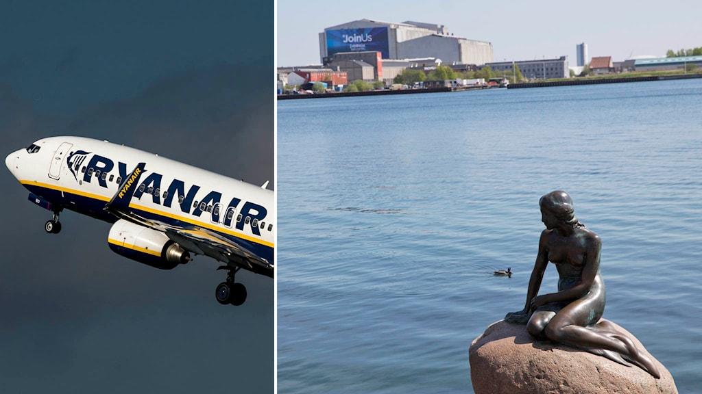 Ryanair den lille havfrue köpenhamn