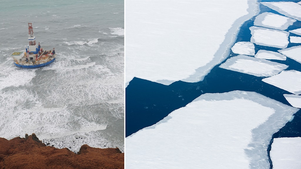 Arktis, is, snö