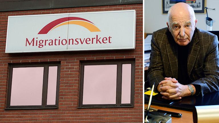 Mutbrott på migrationsverket. Leif SIlbersky företräder den dömde. Foto: Maja Suslin och Henrik Montgomery/TT