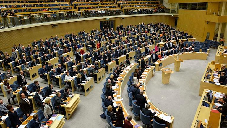 Riksdagens plenisal. Foto: Foto: Henrik Montgomery/TT.