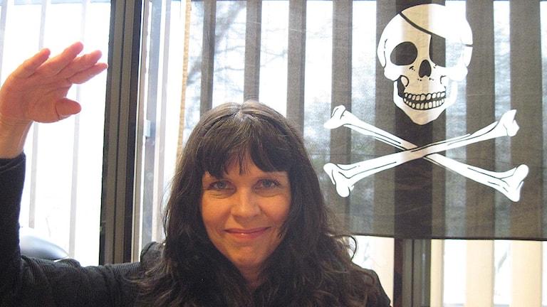 Birgitta Jónsdóttir. partiledare isländska Piratpartiet. Foto: Jens Möller/TT.