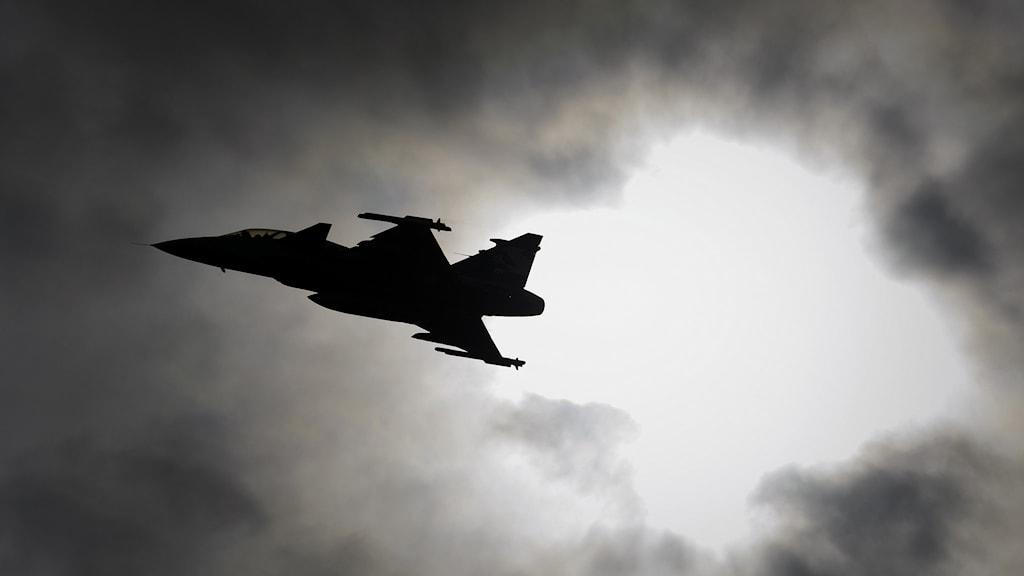 Jas Gripen F. Foto: Fabrice Coffrini/AFP.