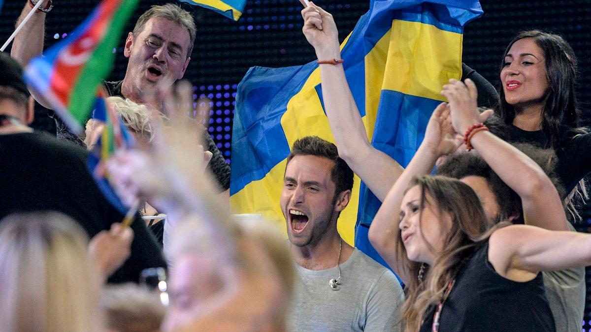 Måns Zelmerlöw går vidare till final Eurovision Song Contest. Jessica Gow/TT.