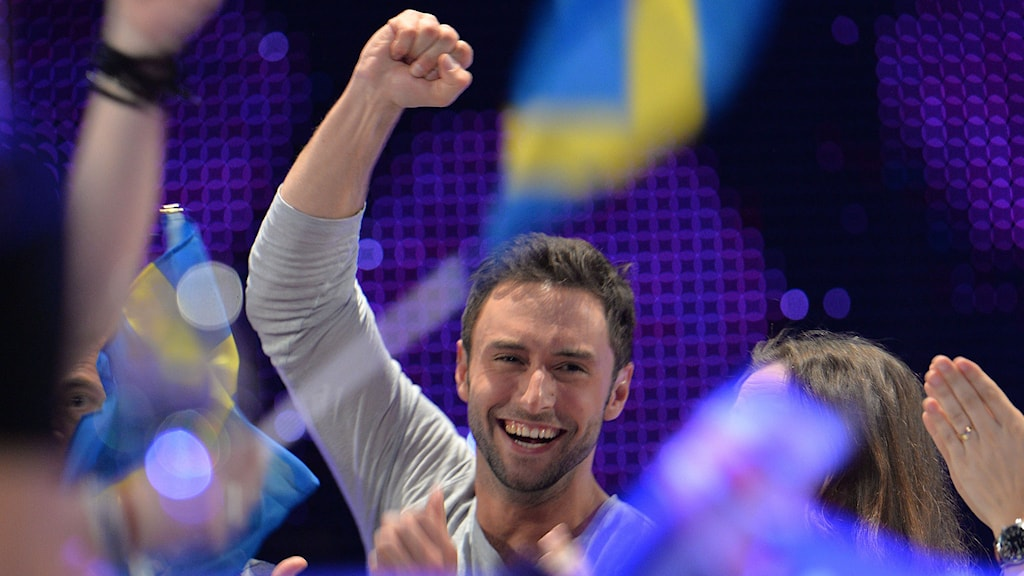 Måns Zelmerlöw vinner Eurovision Song Contest i Wien. Foto: Kerstin Joensson/TT.